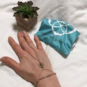 Kendra Scott rose gold Toby hand chain